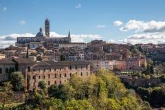 Sikt av Siena Cathedral Royaltyfri Fotografi