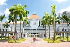 Sikt av Singapore parlamentbyggnad Arkivbild