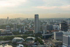 Sikt av Singapore stadshorisont Royaltyfria Foton