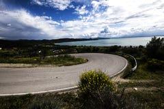 Sikt av sjön arkivfoto