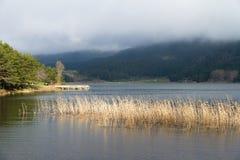Sikt av sjön Abant Arkivfoton