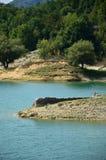 Sikt av sjön av Salto i Abruzzo, Italien 92 Royaltyfria Foton