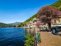 Sikt av sjön Como (HDR) fotografering för bildbyråer