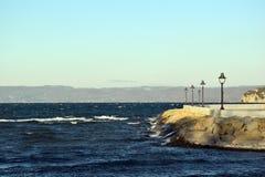 Sikt av sjön och hamnen Royaltyfria Foton