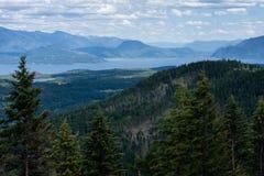 Sikt av sjön Pend Oreille i Idaho, USA Arkivbilder