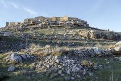 Sikt av slotten av Gormaz i Soria, Spanien Royaltyfri Fotografi