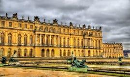 Sikt av slotten av Versailles Royaltyfria Bilder