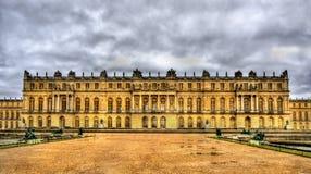 Sikt av slotten av Versailles Arkivbild