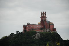 Sikt av slotten da Pena Royaltyfria Foton