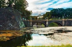 Sikt av slotten för kejsare` s i Tokyo, Japan Royaltyfri Bild