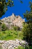 Sikt av slotten för St Hilarion nära Kyrenia 11 Arkivfoto