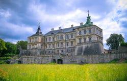 Sikt av slotten Podgoretsky Royaltyfri Fotografi