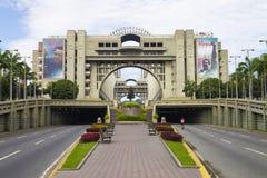 Sikt av slotten av rättvisa av Venezuela i Caracas, Venezuela royaltyfri bild
