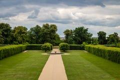 Sikt av slottträdgården, Tjeckien Royaltyfri Fotografi