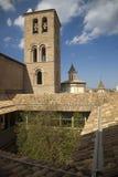 Sikt av Solsona, Cataluna, Spanien, från museum av Solsona eller Museu Diocesï ¿ ½ I Comarcal som innehåller romanska målningar,  Royaltyfri Foto