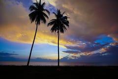 sikt av soluppgång i Asien Arkivfoto
