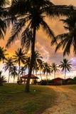 Sikt av soluppgång på Malaysia Royaltyfria Foton