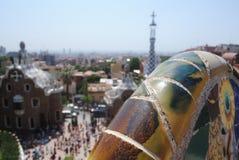 Sikt av Spanien från över Arkivfoto