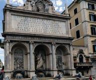 Sikt av springbrunnen av Moses i italienare Fotografering för Bildbyråer