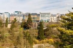 Sikt av stället de la konstitution - Luxembourg Royaltyfri Foto