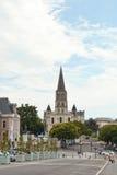 Sikt av St-lauds kyrka i Angers, Frankrike Arkivbilder