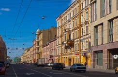 Sikt av St Petersburg. Gorohovaya gata Arkivbild
