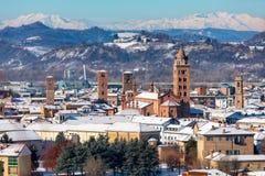 Sikt av staden av album, Italien royaltyfri bild