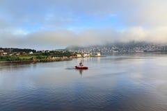 Sikt av staden, Alesund (Norge) Royaltyfri Fotografi