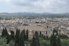 Sikt av staden av Arta Arkivbild