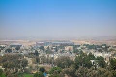 Sikt av staden av öl Sheva Arkivbild