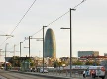 Sikt av staden av Barcelona Royaltyfri Bild