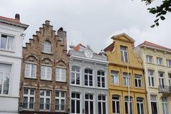 Sikt av staden av Brugge Arkivbild