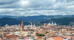 Sikt av staden av Cuenca, Ecuador Royaltyfria Foton