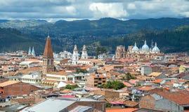 Sikt av staden av Cuenca, Ecuador Arkivbild