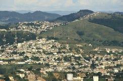 Sikt av staden av Juiz de för a, Minas Gerais, Brasilien Arkivbilder