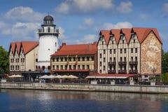 Sikt av staden av Kaliningrad arkivfoton
