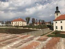 Sikt av staden av Kutn Hora, Tjeckien, Europa arkivfoto
