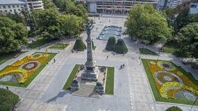 Sikt av staden av list som är i stadens centrum från över Arkivfoto