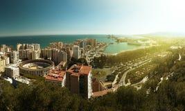 Sikt av staden av Malaga Royaltyfri Foto