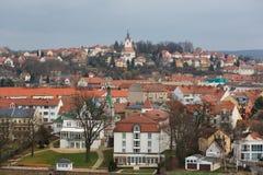 Sikt av staden av Meissen Arkivfoton