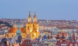 Sikt av staden av Prague Fotografering för Bildbyråer