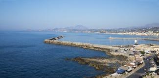 Sikt av staden av Rethymno från Fortezzs fästning Royaltyfria Foton
