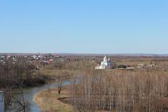 Sikt av staden av Suzdal från ett klockatorn Arkivbilder
