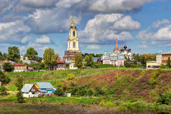 Sikt av staden av Suzdal Ryssland Arkivfoto