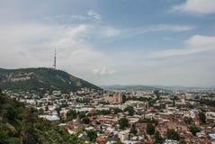 Sikt av staden av Tbilisi Royaltyfria Bilder
