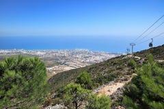 Sikt av staden, Benalmadena (Spanien) Arkivfoton