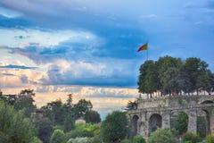 Sikt av staden, Bergamo, Italien Royaltyfria Bilder