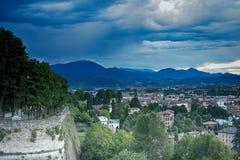 Sikt av staden, Bergamo, Italien Royaltyfria Foton