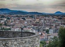 Sikt av staden, Bergamo, Italien Royaltyfri Fotografi