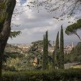 Sikt av staden Florence royaltyfri fotografi